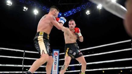 Fabio Turchi sul ring di Firenze