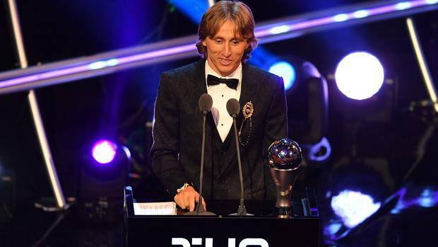 Luka Modric al Best Fifa Men's player of 2018. Afp