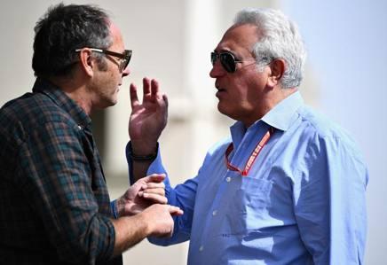 Lawrence Stroll, 59 anni, neo proprietario della Racing Point, con Gerhard Berger, 59  GETTY IMAGES