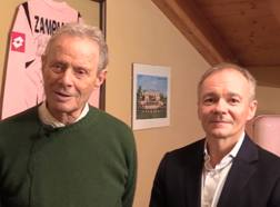 L'ex presidente del Palermo Zamparini e il nuovo acquirente del club Clive Richardson