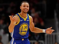 Steph Curry, 30 anni, due mvp vinti in carriera. Afp