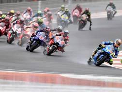 Il via del GP di Valencia della MotoGP. Afp