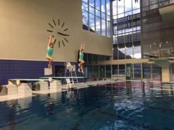 Francesca Dallapé e Tania Cagnotto in allenamento a Bolzano