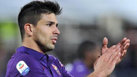 Giovanni Simeone, attaccante della Fiorentina. Lapresse