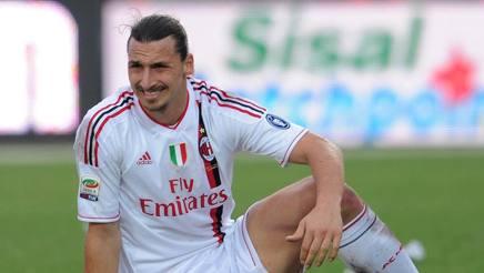 Zlatan Ibrahimovic con la maglia del Milan. Ansa