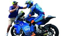 Valentino Rossi con il fratello Luca Marini.