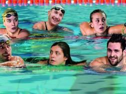 In alto da sin. Margherita Panziera, Simone Ruffini e Martina Carraro. Sotto Gabriele Detti, Giulia Verona e Marco Orsi