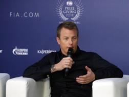 Kimi Raikkonen alla cerimonia Fia a San Pietroburgo. Epa