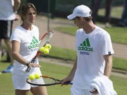 Amelie Mauresmo quando allenava Andy Murray
