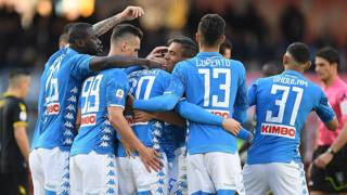 L'esulltanza dei giocatori del Napoli. Getty
