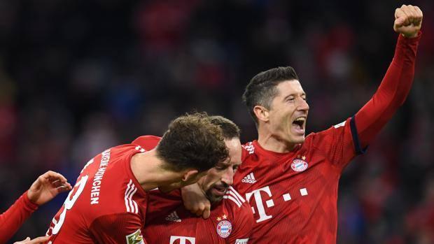 La festa del Bayern. Afp