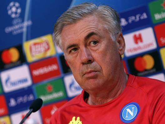 Carlo Ancelotti, allenatore del Napoli. Getty