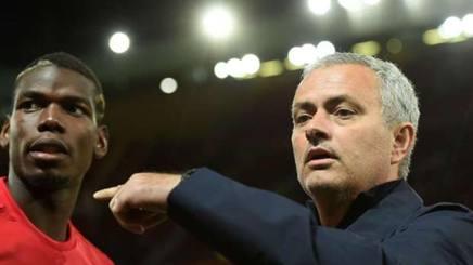 Paul Pogba e José Mourinho, centrocampista e allenatore del Manchester United