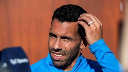 Carlos Tevez, attaccante del Boca Juniors. Epa
