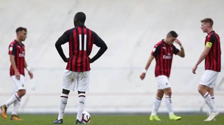 Tutta la delusione della Primavera del Milan. Lapresse