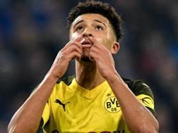 Jadon Sancho, attaccante del Borussia Dortmund. Epa