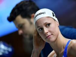 Federica Pellegrini, 30 anni, campionessa mondiale in carica dei 200 sl in vasca corta e lunga. Lapresse