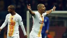 Esulta Feghouli per il gol realizzato su rigore. Ap