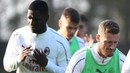Cristian Zapata e Ignazio Abate in allenamento. LaPresse