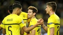 Il Dortmund festeggia il primo posto nel girone A. Getty