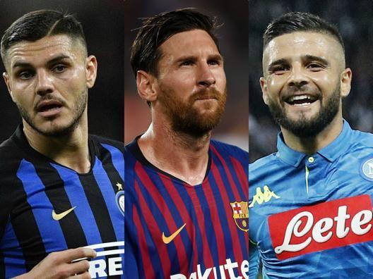 Mauro Icardi, Lionel Messi, Lorenzo Insigne