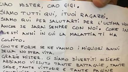 La lettera di Claudio Sala