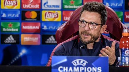 Eusebio Di Francesco, 49 anni, alla seconda stagione sulla panchina giallorossa. LaPresse