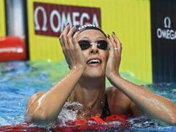 Federica Pellegrini, 30 anni,  olimpionica a Pechino 2008 sui 200 sl  EPA