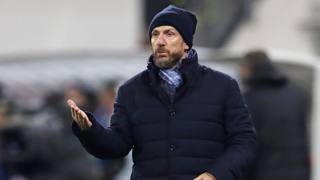 Eusebio Di Francesco, seconda stagione alla guida della Roma. Afp