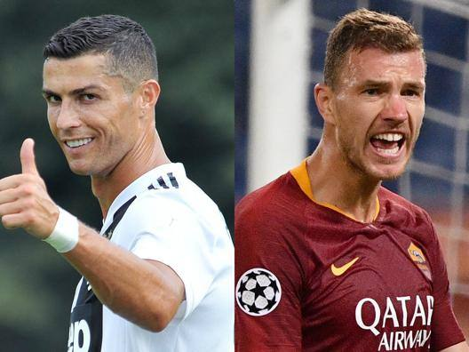 Cristiano Ronaldo, Edin Dzeko