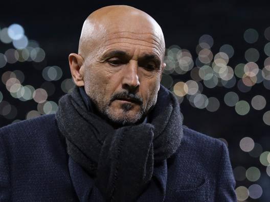 Luciano Spalletti ieri sera a San Siro. Getty