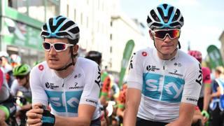 Geraint Thomas e Chris Froome al Tour 2018. AFP