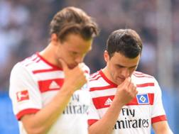 I giocatori dell'Amburgo. Afp