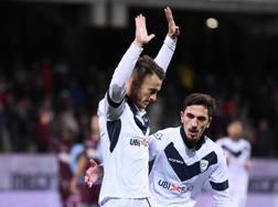 L'esultanza di Alfredo Donnarumma dopo il gol alla Salernitana. Lapresse