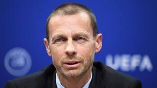 Aleksander Ceferin, presidente dell'Uefa. Epa