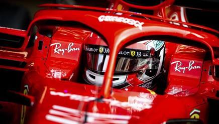 Charles Leclerc al volante Ferrari nei test di Abu Dhabi. Getty