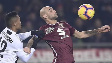 Zaza contro Alex Sandro. LaPresse