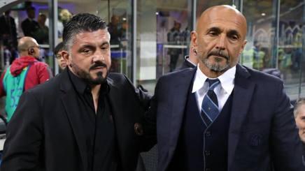 Gennaro Gattuso e Luciano Spalletti. Getty