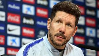 Diego Simeone, tecnico dell'Atletico Madrid. Epa