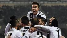 L'esultanza della Juventus. Afp