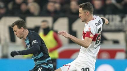 Herbert Getner contro l'Hertha. Ap