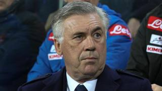Carlo Ancelotti,, prima stagione alla guida del Napoli. Ansa
