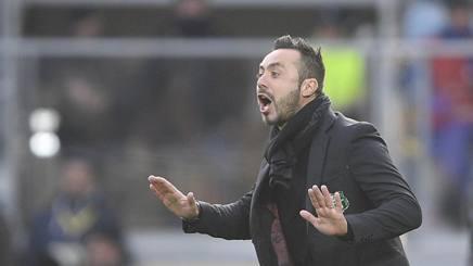 Roberto De Zerbi, allenatore del Sassuolo. LaPresse