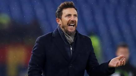 Eusebio Di Francesco, tecnico della Roma. Ansa