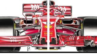 Il confronto tra il nuovo e il vecchio progetto Ferrari. Getty