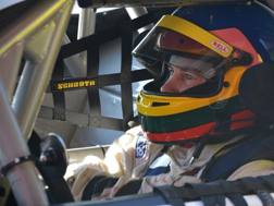 Jacques Villeneuve in azione nei test