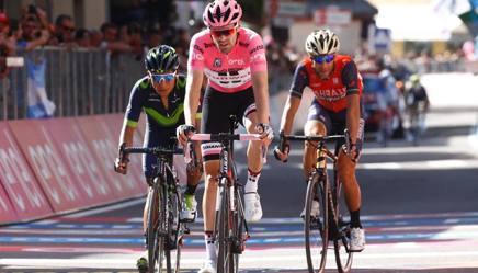 Tom   Dumoulin, 28 anni, in rosa nel trionfale Giro 2017 AFP