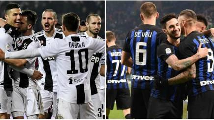Le esultanze di Juventus e Inter