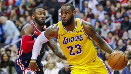 John Wall e LeBron James. Epa
