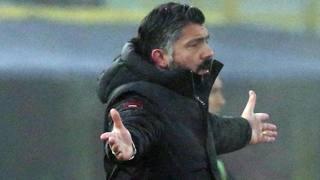 Rino Gattuso, allenatore del Milan. Ansa
